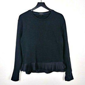 J.Crew Pleated Ruffle Hem Pullover Sweatshirt